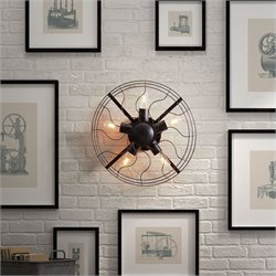 Zuo Simonite Wall Lamp in Rust Black