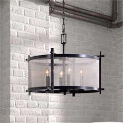 Zuo Gabbro Ceiling Lamp in Antique Black Gold