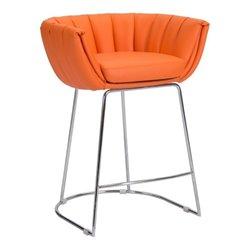 Zuo Latte Bar Stool in Orange