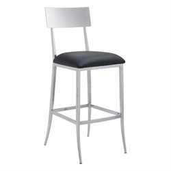 Zuo Mach Bar Stool in Black