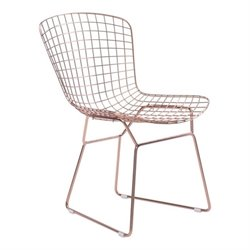 Zuo Wire Dining Chair in Rose Gold