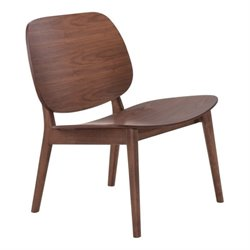 Zuo Priest Lounge Chair in Walnut