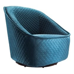 Zuo Pug Swivel Chair in Aquamarine