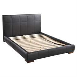 Zuo Amelie Faux Leather Upholstered Platform Bed in Black