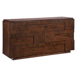 Zuo San Diego Double Dresser in Walnut