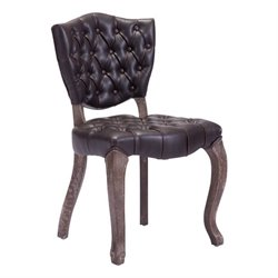 Zuo Leavenworth Faux Leather Dining Chair in Brown