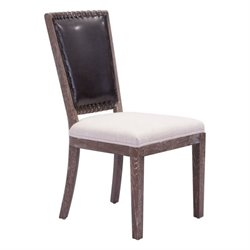 Zuo Market Faux Leather Dining Chair in Brown