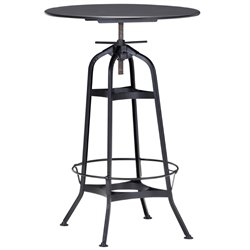 Zuo Spartan Pub Table in Antique Black