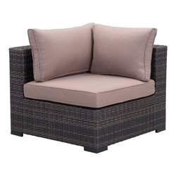 Zuo Bocagrande Outdoor Corner Chair in Brown