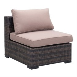 Zuo Bocagrande Outdoor Middle Chair in Brown