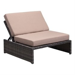 Zuo Delray Outdoor Recliner in Brown