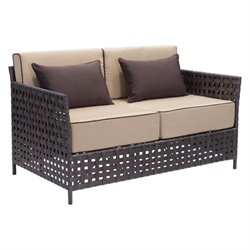 Zuo Pinery Outdoor Fabric Sofa in Beige