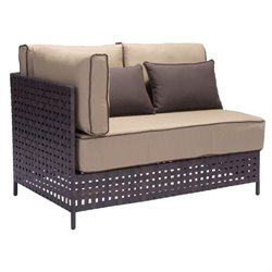 Zuo Pinery Outdoor Left Arm Fabric Loveseat in Beige