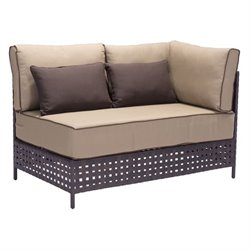 Zuo Pinery Outdoor Right Arm Fabric Loveseat in Beige