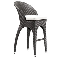 ZUO Corona Outdoor Bar Stool