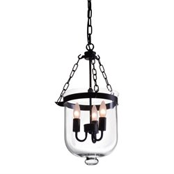 Zuo Masterton Glass Ceiling Lamp in Black