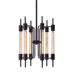 Zuo Gisborne Glass Ceiling Lamp in Black