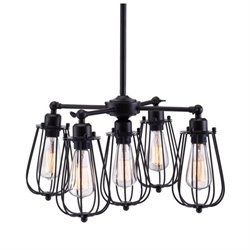 Zuo Porirua Ceiling Lamp in Black