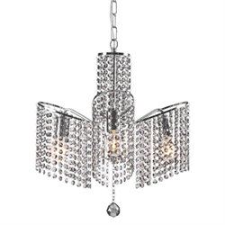 Zuo Keith Glass Ceiling Lamp in Chrome