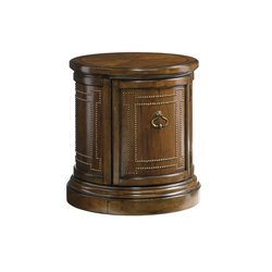 Lexington Coventry Hills Darien Round End Table in Autumn Brown