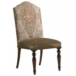 Lexington Coventry Hills Ellyson Leather Dining Chair in Olive