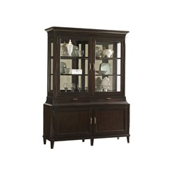 Lexington Kensington Place Grove Mirrored Curio Cabinet in Brown