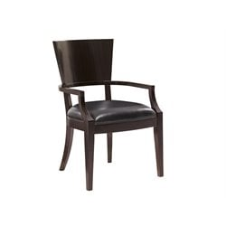 Lexington Kensington Place Carson Leather Dining Arm Chair in Brown