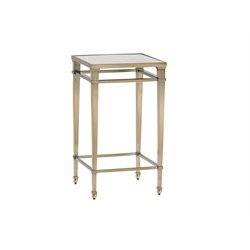 Lexington Kensington Place Coville Glass Top Square End Table in Brass