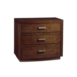 Lexington Laurel Canyon Verdes 3 Drawer Nightstand in Mocha