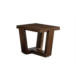 Lexington Laurel Canyon Esplanade Rectangular End Table in Mocha