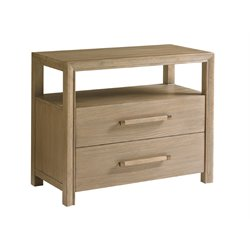 Lexington Shadow Play Curtain Call Nightstand in Gray Elm