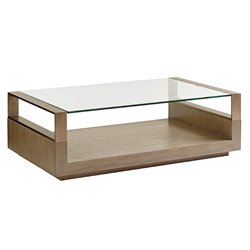 Lexington Shadow Play Center Stage Coffee Table in Gray Elm