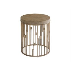 Lexington Shadow Play Studio Accent Table in Gray Elm