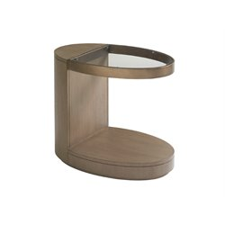 Lexington Shadow Play Highball End Table in Gray Elm