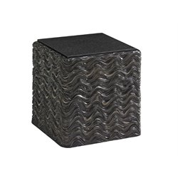 Lexington Shadow Play Talk Of The Town End Table in Black Pearl