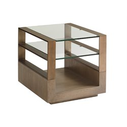 Lexington Shadow Play End Table in Gray Elm