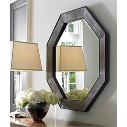 Lexington MacArthur Park Riva Mirror in Warm Mocha Brown