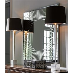 Lexington MacArthur Park Calliope Sunburst Mirror in Stainless Steel