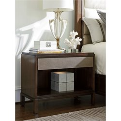 Lexington MacArthur Park Oandora 1 Drawer Nightstand in Brown