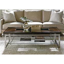 Lexington MacArthur Park Granville Steel Coffee Table in Mocha Brown