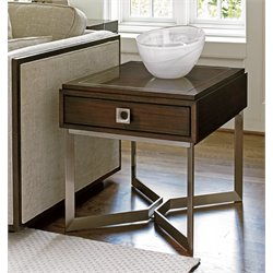 Lexington MacArthur Park Granville 1 Drawer End Table in Brown