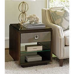 Lexington MacArthur Park Chenault 1 Drawer End Table in Brown