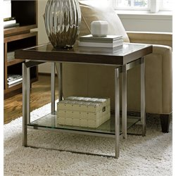 Lexington MacArthur Park Granville End Table in Warm Mocha Brown