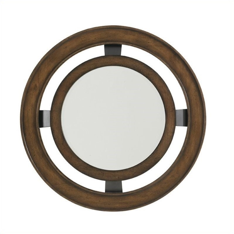 Lexington 11 South Radius Mirror in Chestnut Brown