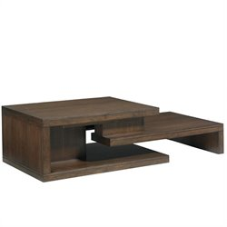 Lexington 11 South Cascade Cocktail Table in Chestnut Brown