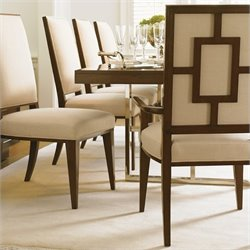 Lexington Mirage Leigh Arm Dining Chair in Cashmere Finish - Ships Assembled