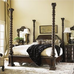 Lexington Florentino Vittorio Poster Bed in Dark Walnut