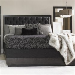 Lexington Carrera Maranello Upholstered Bed in Charcoal