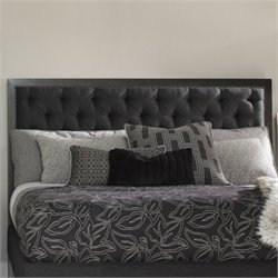 Lexington Carrera Maranello Tufted Upholstered Headboard in Charcoal