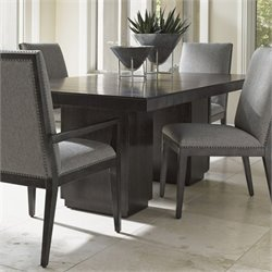 Lexington Carrera Modena Wood Dining Table in Carbon Gray
